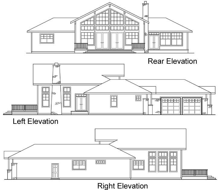 Rear Elevation Plan: 17-242