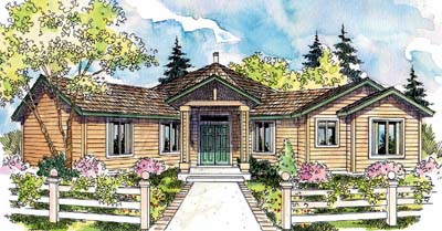Traditional Style Home Design Plan: 17-243