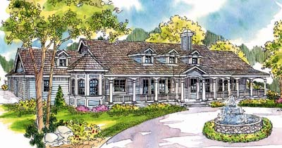 Country Style Home Design Plan: 17-245