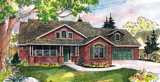 Country Style Floor Plans Plan: 17-249