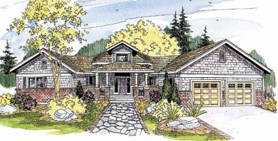 Craftsman Style Home Design Plan: 17-251