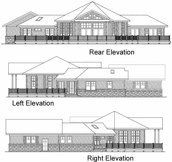 Rear Elevation Plan: 17-254