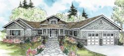 Craftsman Style Home Design Plan: 17-254
