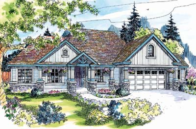 Country Style Home Design Plan: 17-255