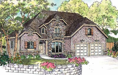 English-country Style House Plans Plan: 17-256