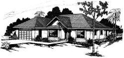Contemporary Style Home Design Plan: 17-257