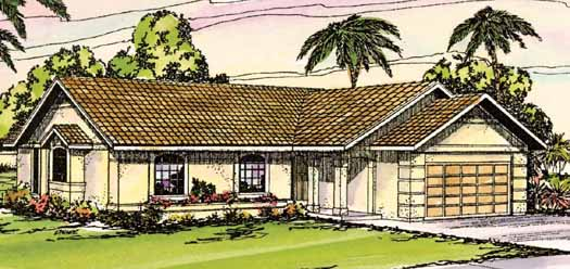 Southwest Style Floor Plans 17-258