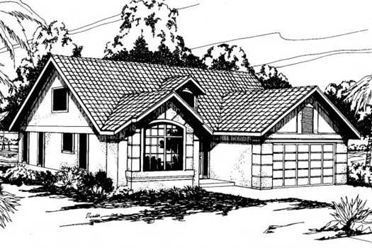 Mediterranean Style Home Design Plan: 17-260