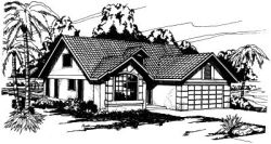 Mediterranean Style House Plans Plan: 17-260