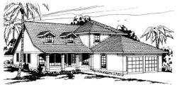 Southwest Style House Plans Plan: 17-262