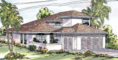 Southwest Style Floor Plans Plan: 17-264