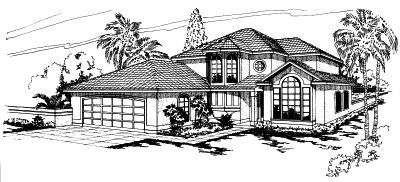 Southwest Style House Plans Plan: 17-265