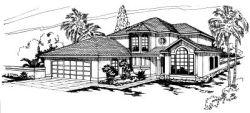 Southwest Style House Plans Plan: 17-265