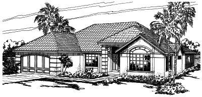Mediterranean Style House Plans Plan: 17-266