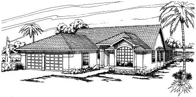 Southwest Style Floor Plans 17-267