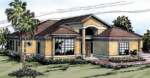 Southwest Style House Plans 17-268