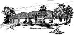 Mediterranean Style Home Design Plan: 17-269