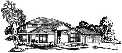Mediterranean Style House Plans Plan: 17-271