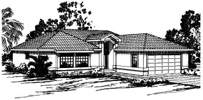 Mediterranean Style House Plans Plan: 17-272