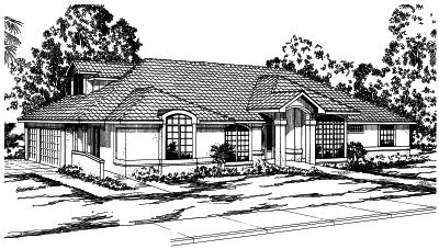 Mediterranean Style House Plans Plan: 17-273