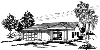 Mediterranean Style House Plans Plan: 17-274