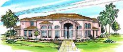 Mediterranean Style House Plans Plan: 17-275