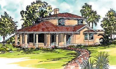 Mediterranean Style House Plans Plan: 17-277