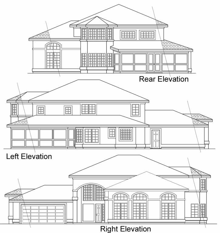 Rear Elevation Plan: 17-278
