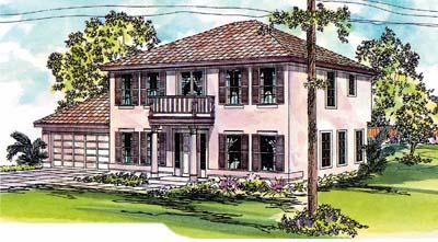 Mediterranean Style House Plans Plan: 17-281