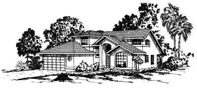 Southwest Style Floor Plans Plan: 17-282