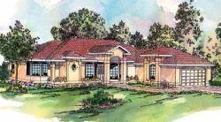 Mediterranean Style Home Design Plan: 17-283