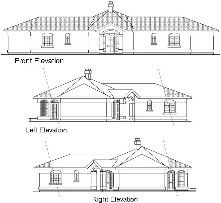 Rear Elevation Plan: 17-284