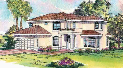 Mediterranean Style Floor Plans Plan: 17-285