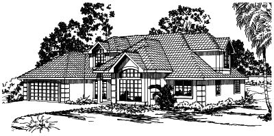 Mediterranean Style House Plans Plan: 17-287