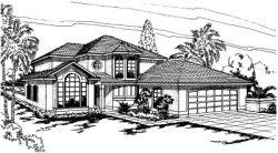 Mediterranean Style House Plans Plan: 17-291