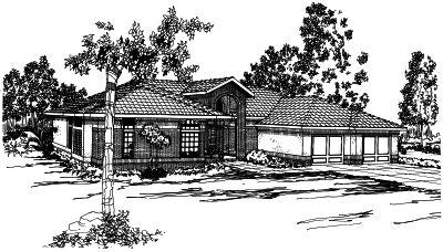 Northwest Style Home Design Plan: 17-293