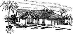 Southwest Style Floor Plans Plan: 17-298