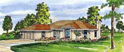 Mediterranean Style House Plans Plan: 17-299