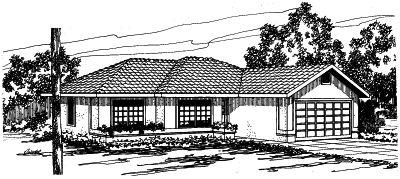 Southwest Style House Plans Plan: 17-300