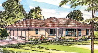 Southwest Style House Plans Plan: 17-304