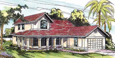 Mediterranean Style Floor Plans Plan: 17-306