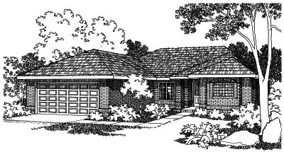 Traditional Style Home Design Plan: 17-307
