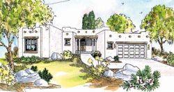 Santa-Fe Style House Plans Plan: 17-310