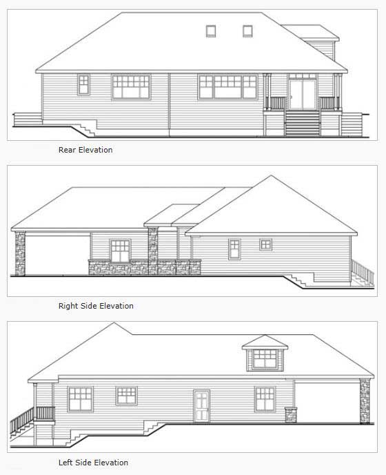 Rear Elevation Plan: 17-313