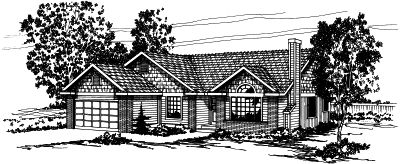Traditional Style Home Design Plan: 17-317