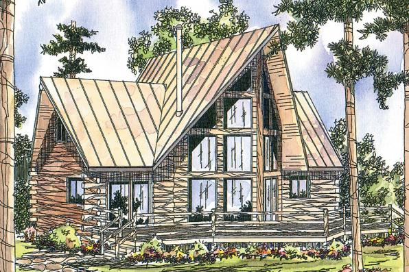 Log-cabin Style House Plans Plan: 17-318