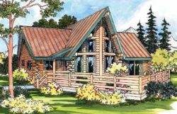 Log-Cabin Style Floor Plans Plan: 17-319