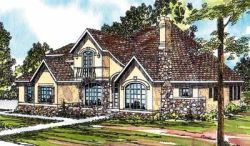 European Style Home Design Plan: 17-326