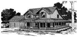 Country Style Floor Plans Plan: 17-328