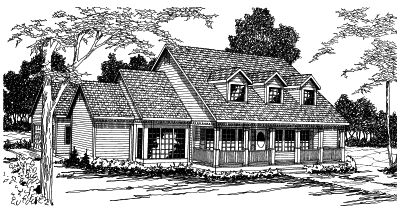 Farm Style Home Design Plan: 17-329